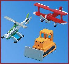 Kaleas Laubsägevorlagen  3 Modelle Hubschrauber  Raupe Doppeldecker