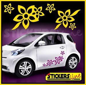 KIT ADESIVI FIORI 2 SMART FIAT 500 car Flowers stickers