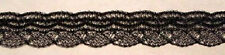 """Angel Lace 1/2"""" Wide x 10 Yards Black Crafts Dolls Clothing Costumes decoration"""
