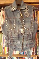 Apple Bottom Jeans Denim Vest NWT Size S/P Small Very Cute Rhinestones