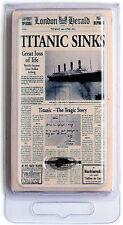"""RMS TITANIC COAL MINI """"LONDON HERALD"""" 100TH ANNIV EDITION W COA - AUTHENTIC"""