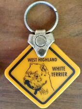 2 Stück Schlüsselanhänger Australien Warnschild Hund WEST HIGHLAND WHITE TERRIER