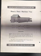 The Modern Machinery Co Wilmington De 1920 ad sheets Drill Press Vice Vise