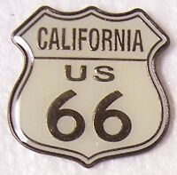 Hat Lapel Pin Push Tie Tac Route 66 - California - The Mother Road NEW shield