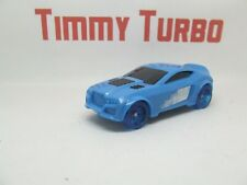 P Hot Wheels Azul empuje hacia abajo Racer arrastrar 2012 85 mm de plástico largo