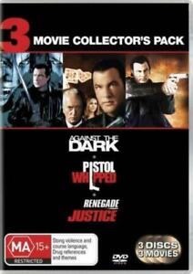 Against The Dark / Renegade Justice / Pistol Whipped :3 Movie  DVD NEW+SEALED