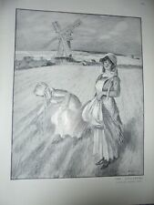 The Gleaners by Charles Pears 1910 print ref AN