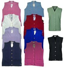 Sleeveless Cardigan With Pockets Older Women Elderly Merry Gold Womans Waistcoat