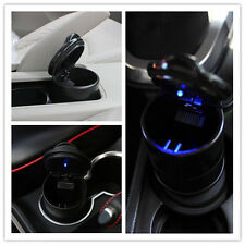 Auto Accessories illuminated Ash Bin Car Ashtray Led Light Easy Clean Black