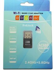 Wi-Fi Nano 11AC ADAPTER Dual Band-5.8GHz+2.4GHz 433/150 Mbps Wi -if Dongle Inbox