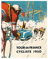 TOUR DE FRANCE TIN SIGN BICYCLE BIKE BICYCLING FRENCH  LA GRANDE BOUCLE GARIIN