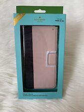 NWT Kate Spade iPhone Xs MAX Colorblock Wrap Folio Leather Case