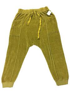 Free People FP Movement Mustard Velvet Harem Joggers Yoga Pants Sz L/XL