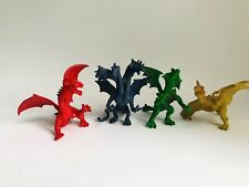 Dragon Toy Figurine Lot Plastic PVC 3""