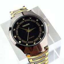 ROSRA Luxury Fashion Mens Sport Stainless Steel Band Quartz Analog Wrist Watch