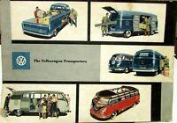 1957 Volkswagen Transporter Dealer Sales Brochure Micro Bus Kombi Truck