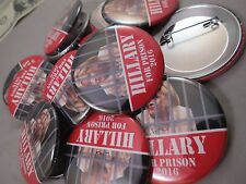 Wholesale Lot Of 22 Hillary Clinton For Prison 2016 Buttons 1 Trump President Us