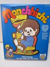 VINTAGE 1982 MONCHHICHI ACRYLIC PAINT BY NUMBER PLAY TIME SET UNOPENED BOX