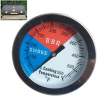 Stainless Steel Barbecue BBQ Smoker Grill Thermometer Temperature Gauge 100-550℉