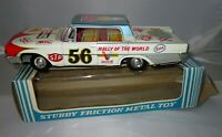 Vintage Taiyo Tin Friction Car Rally of the World Petroliana Esso Mobil with Box