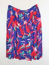 TARGET Brand Blue Floral Button Front Midi Skirt Size 12 BNWT #ST73