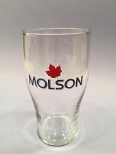 Molson Canadian Red Maple Leaf  Tulip Beer Pint Glass New Free Shipping