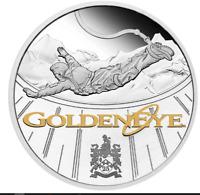 2021 JAMES BOND Golden Eye 1oz Silver Proof Coin