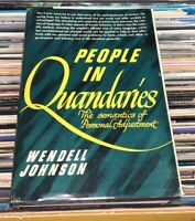 People in Quandries Wendell Johnson 1946 Harper & Brothers Monster Study Rare
