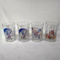 McDonalds Walt Disney World Remember The Magic 25th Anniversary Glasses Lot of 4