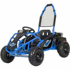 MotoTec Mud Monster 98cc Kid's Go Kart Full Suspension Blue