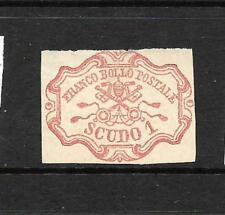 PAPAL STATES 1852-64    1sc   DULL ROSE   MNG   SIGNED     SG 29