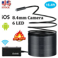 5M 6LED Wireless WiFi Endoscope Borescope Inspection Camera for iPhone Android