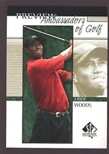 TIGER WOODS 2001 01 SP AUTHENTIC PGA GOLF ROOKIE PREVIEW MINT RC $15