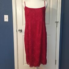 A Pea In The Pod Magenta Pink Lace Maternity Dress Size Large