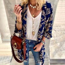 Summer Womens Floral Chiffon Loose Shawl Kimono Cardigan Tops Shirt Blouse