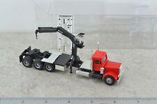 Promotex 6373 4 Axles Peterbilt w/ Hydraulic Crane - Boom 1:87 HO Scale