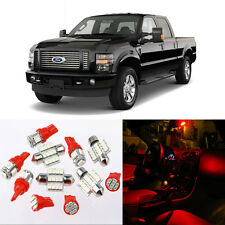 9pcs Red Interior LED Light Package Kit for Ford Super Duty 1999-2010