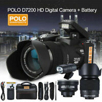 D7200 ULTRA HD 33MP 3 inch LCD 24X ZOOM LED Digital DSLR Camera Camcorder + Lens