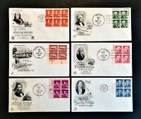 US FDC Set of 11 1950's First Day Cachet Cover Collection with Blocks Free Ship