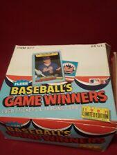 1987 Fleer Baseball Limited Edition Game Winners Box 24 Packs