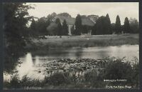 Postcard. Beaulieu, New Forest. Beaulieu Abbey From the Fish-Pond. Vintage RPPC