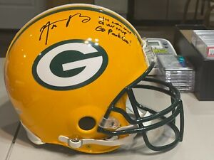 AARON RODGERS Packers Speed Authentic Limited Edition Full Size AUTOGRAPH Helmet