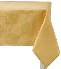 Regal Home Collections Laura Floral Fabric Tablecloth - Gold, 60 in.  x 102 in.