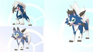 Shiny Lycanroc Bundle for Pokemon Sword and Shield + 3 Masterballs