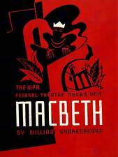 THEATRE STAGE PLAY MACBETH SHAKESPEARE USA NEW ART PRINT POSTER PICTURE CC2844