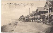 Boardwalk Houses On Shore Front Walnut Beach MILFORD CT Vintage 1919 Postcard
