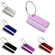 New 1PC Aluminium Luggage Tag Suitcase Label Name Address ID Bag Baggage Tag Hot