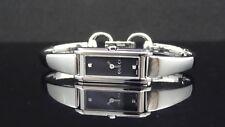 Gucci 109 Series Diamond Black Dial Silver Tone St. Steel YA109518 Women's Watch