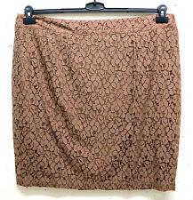 Unifarbene knielange Damenröcke im A-Linien-Stil aus Baumwollmischung