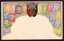 TURKEY  - Old Postcard with Embossed Stamps